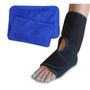 adjustable comfortable custom Foot & Ankle Pain Relief Ice Wrap with 2 Hot/Cold Gel Packs| Best for Achilles Tendon Injuries