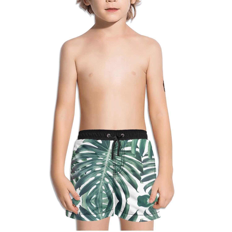 Mikkar Mens Beach Shorts Breathable Trunks Pant Leaves Print Swimwear Beachwear