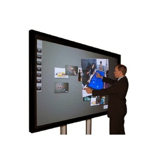 Hot sale 55 65 70 84 and 100 inch 4K 10 users interactive monitor LCD large touch screen panel with computer for schools