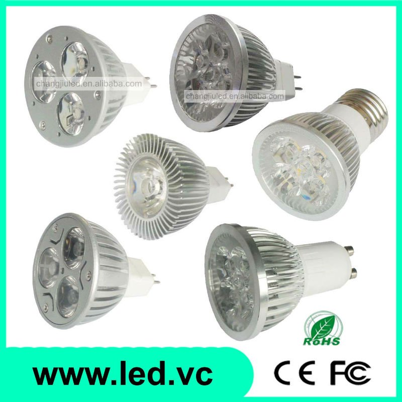 3W 4W High Power MR16 E27 GU10 E14 G5.3 Fitting LED Spotlight