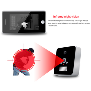 Saful TS-509 built-in battery 3000mAh electronic digital door viewer peephole with Night Vision