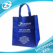 Export Physicians Rehabilitation Promotion Cheap Blue Customized Logo Non Woven Fabric Shopping Bag