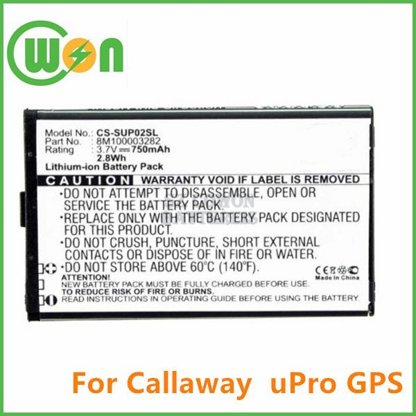 3.7V 800mAh li-ion polymer 30200 FS171 battery for Callaway uPro GPS Device replacement battery