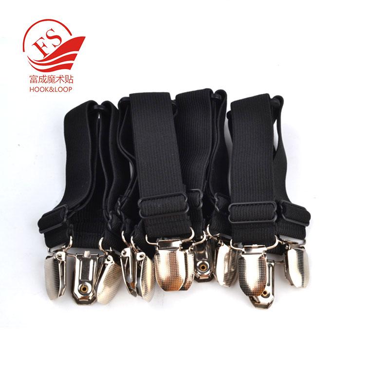 Regolabile Letto Foglio di Fissaggio Bretelle nero Foglio Elastico Fascia Cinghie di Clip