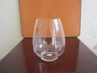 round clear glass vase for flower