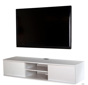 Wall Mounted Media Console Tv Stand In Wood