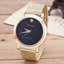 Black Dial Women Quartz Geneva Gold Girls Stainless Steel Watches
