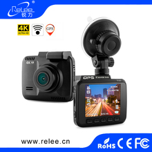 High-end NTK96660 car video recorder 4k wifi dash cam with gps car camera auto vehicle blackbox dvr