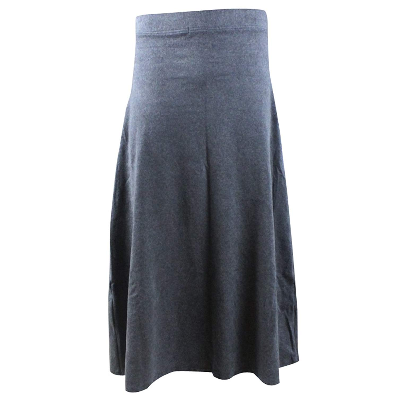 e1ac4b3305 Get Quotations · Women Autumn Thick Cotton High Elastic Waist A-line Flared  Long Parachute Skirt