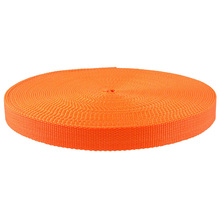 1 Inch Orange Super Heavy PP Webbing For Bag/Car seat belt