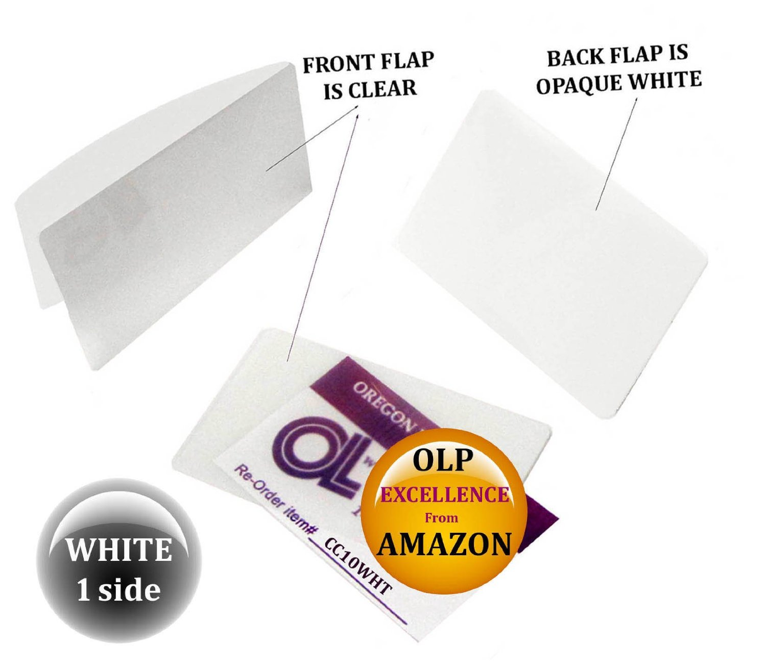 Qty 5000 White/Clear Credit Card Laminating Pouches 2-1/8 x 3-3/8 by LAM-IT-ALL