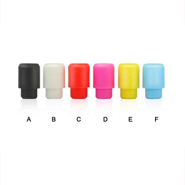 Disposable silicone 510 drip tips colored e-cig rubber mouthpiece tip for e-cig vaporizers tank