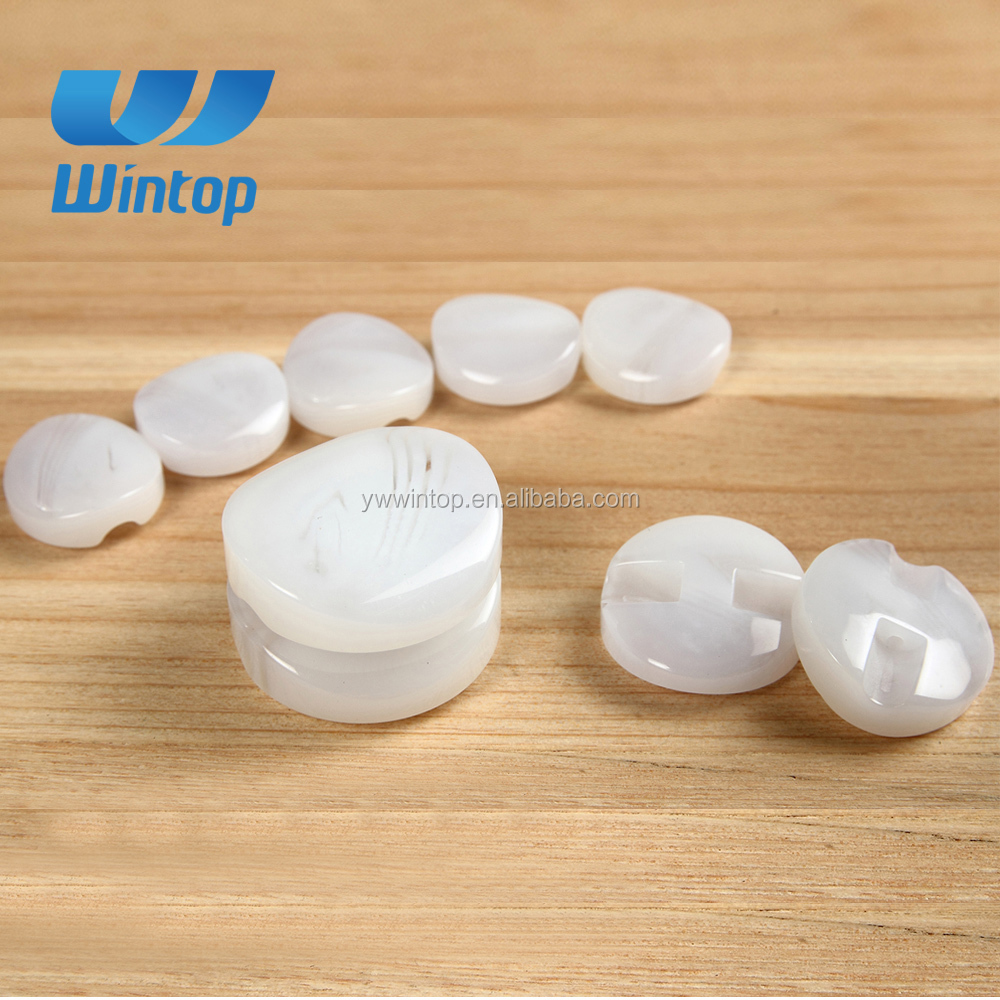 customed various size white round shank button resin for woman apparel accessory