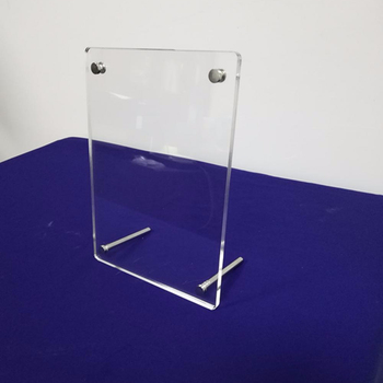 A3 A4 A5 A6 Clear Acrylic Photo Frames, Custom Acrylic Tabletop Graphic Frame Panels