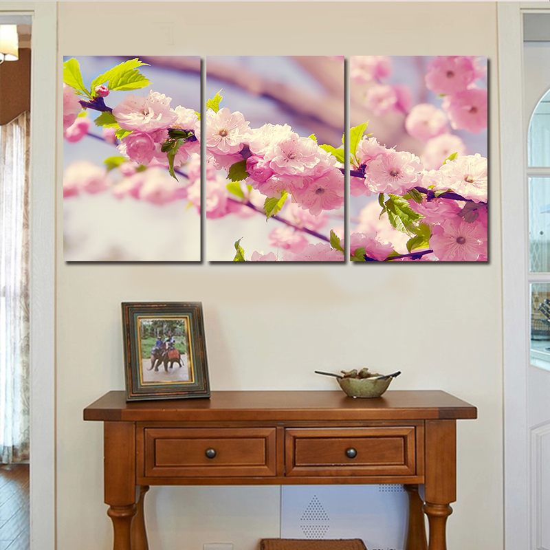 3 Panel Modern Abstract The Winter Plum Blossom Painting On Canvas Wall Art Picture Home Decor For Living Room No Frame