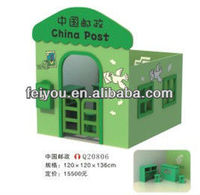 Feiyou Factory make kids role palying games furniture toys wooden doll houses toys post office in high density board