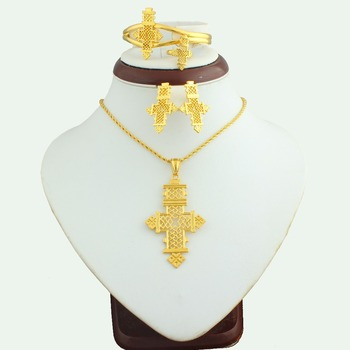 Lower Price Jewelry Fashion 24 Carat Gold Sets