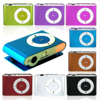 Classic Mini Clip MP3 Player With Micro TF SD Slot Portable Colorful Metal Music