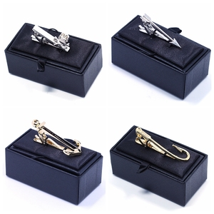 Garment Accessories Supplier Promotional Custom Metal Clips Tie Bar Tie Clip Box