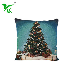 Decorative Supplies jacquard woven Christmas tree pillow xmas cushion