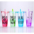 Fashion style BPA free straw bottle double wall plastic tumbler cup