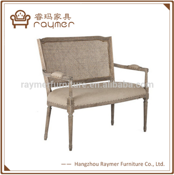Raymer Furniture Wooden Cane Back Sofa Armed Country Sofa French Sofa Settee