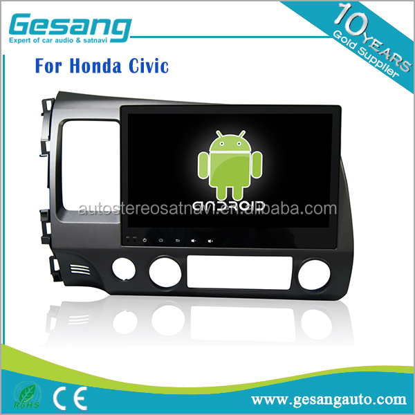China wholesale OEM 2 din android 6.0 car dvd player for Honda Civic with GPS navigation BT DVR IPOD