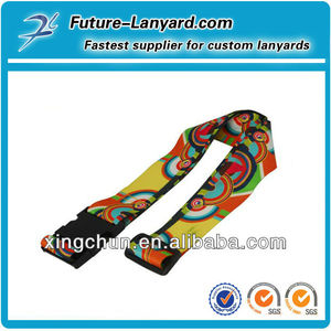 Luggage fasten belt with name tag