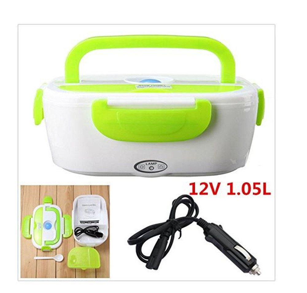 12V Car 1.5L Stainless Steel Electric Heated Lunch Bento Box Food Warmer Heating