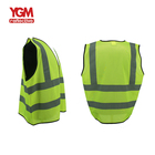 Zipper Vest High Visibility 120 Gsm Zipper Workwear Jaket High Visibility Safety Reflective Security Vest