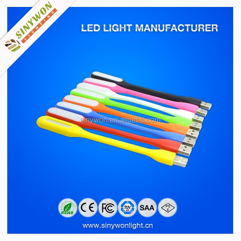 Sinywon 2015 Customized Multi Color Flexible Mini Micro USB LED Light For Power Bank usb led light lamp for laptop