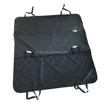 China Non skid quilting seam padded Dog car seat cover with holder