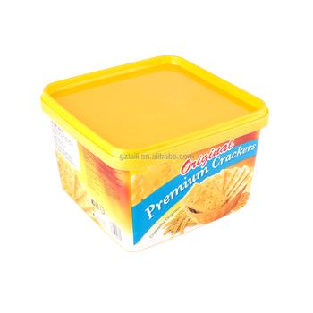 Soda Sandwich Biscuits Plastic Box Oem