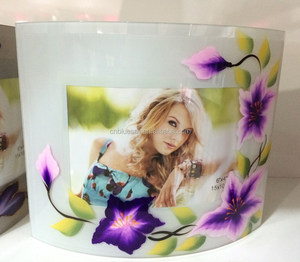 Curved Glass Picture Frame, Hand-painting photo frame, Different types photo frames