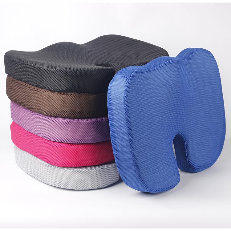 जाल कपड़े स्मृति फोम वयस्क आराम कार कुर्सी बवासीर कोक्सीक्स आर्थोपेडिक सीट ऊंचाई के लिए बूस्टर तकिया तकिया