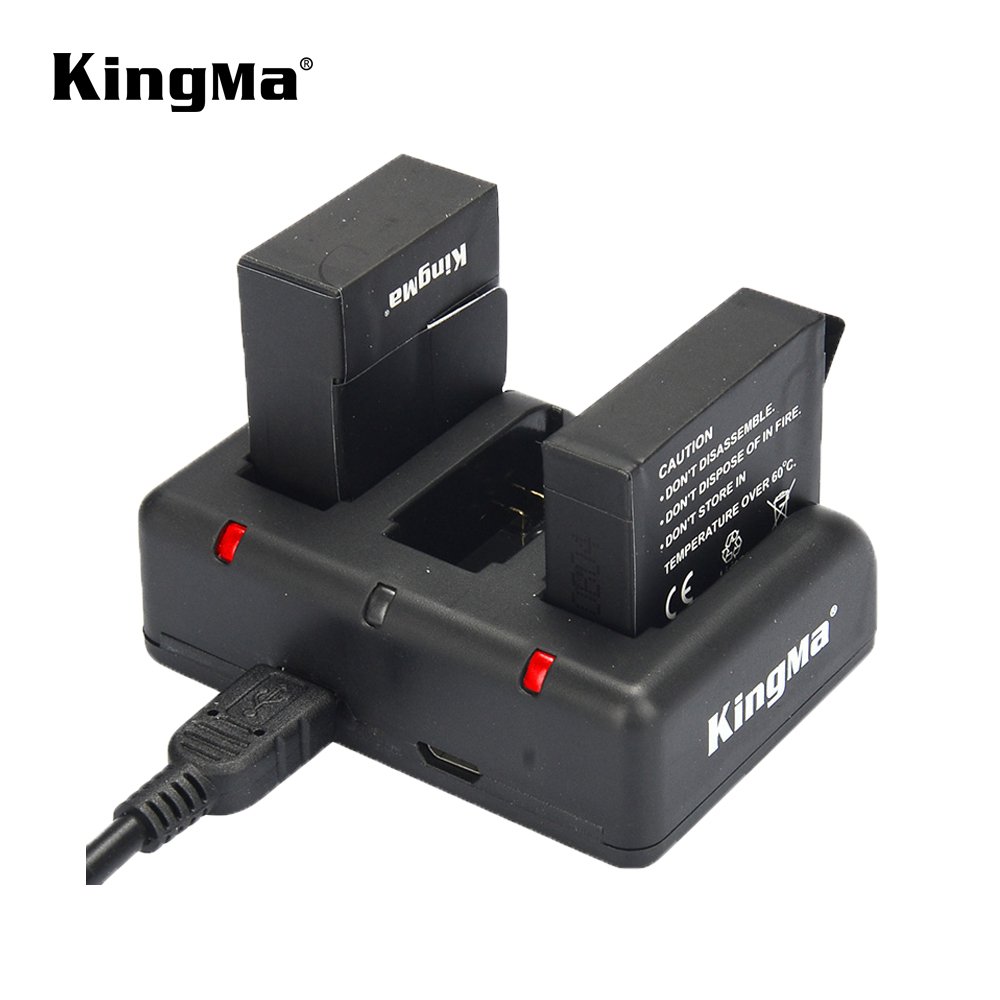 KingMa Triple USB Battery Charger for GoPro Hero 4 3 3+ Batteries Any Mixed фото