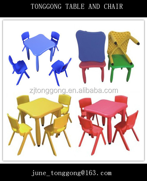 plastic blow molded plastic baby table and chairs dining table for kids