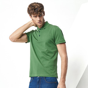 Contrast Neck and Cuff blank work uniform polo shirt unisex