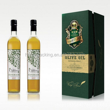 Custom high end olive oil bottle paper packing box for wine packaging storage wholesale