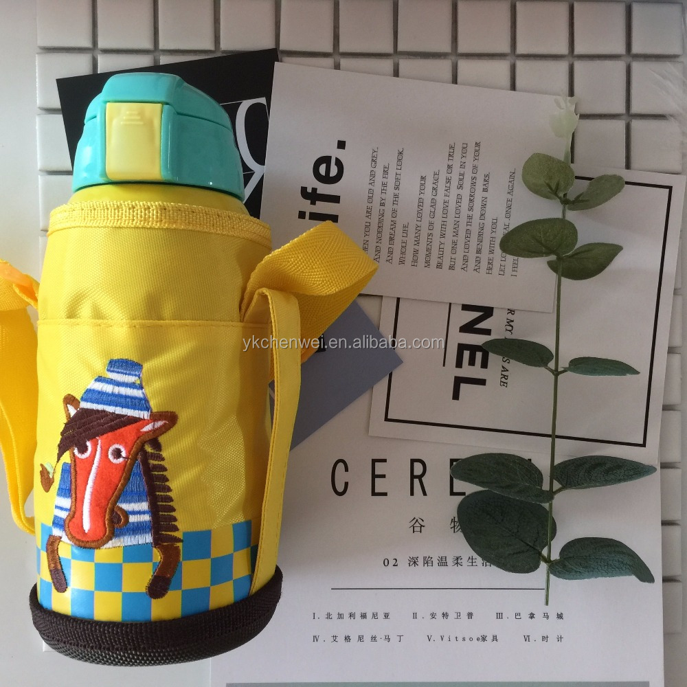 2017 Cartoon insulation pot double walled stainless steel vacuum flask bottle thermal flask for children