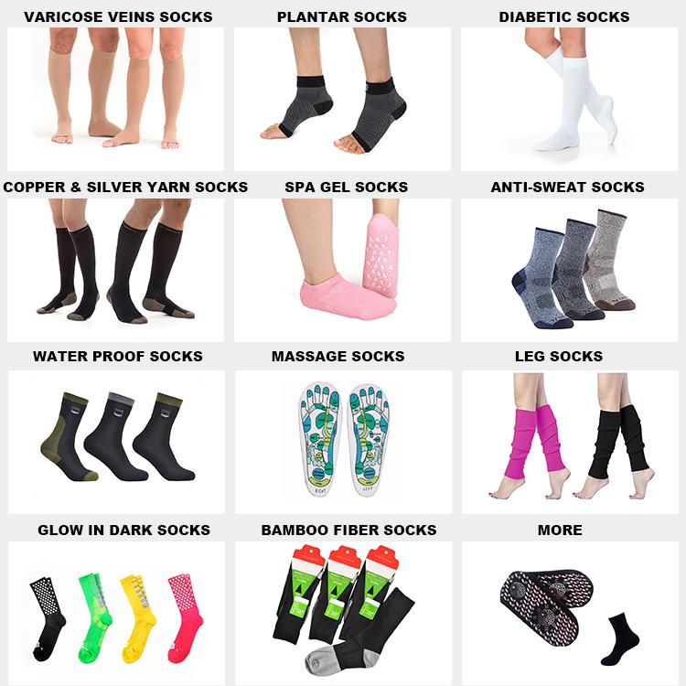 TY-1615 chaussettes médicales chaussettes sans orteil