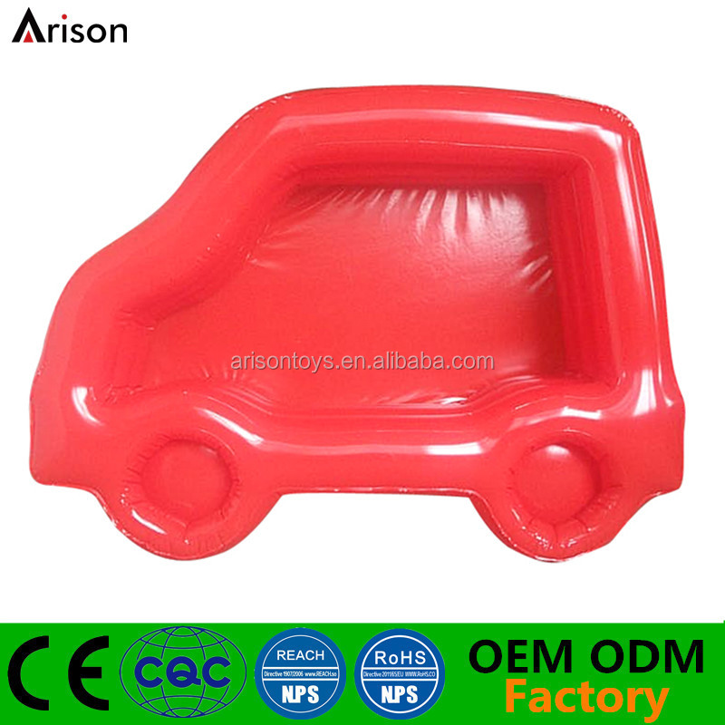 Factory customized water pool inflatable car shaped cartoon swim pool