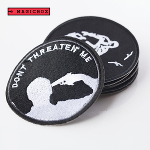 Personality patch work design, customised iron on embroidery patch with famous brand for tracksuit