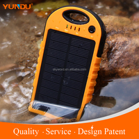 OEM/Private Label Waterproof solar power bank charger 5000mAh Mobile Phone Power Bank