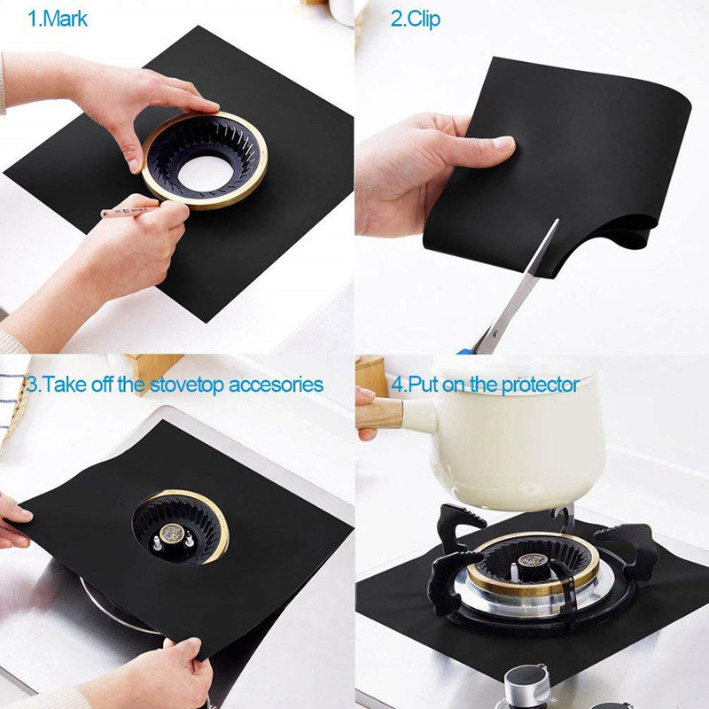 2020 Amazon Top Seller Non Stick Stove Top Protector Heat Resistant Reusable Stove Burner Covers