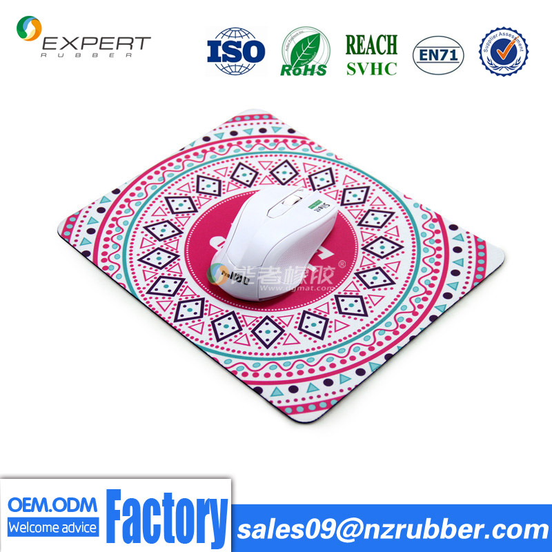 Hot sale mouse pads with 100%natural rubber customized printing Logo mouse pads