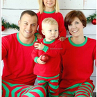 Oem christmas red stripe home clothes plus size children men and women clothing boutique outfit plus size women pajamas