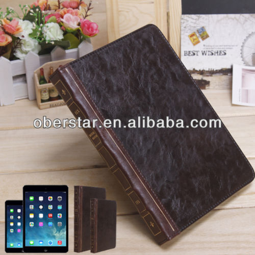 Retro Vinatage Book Leather Stand Case for iPad 5 & iPad Mini 2 Smart Cover