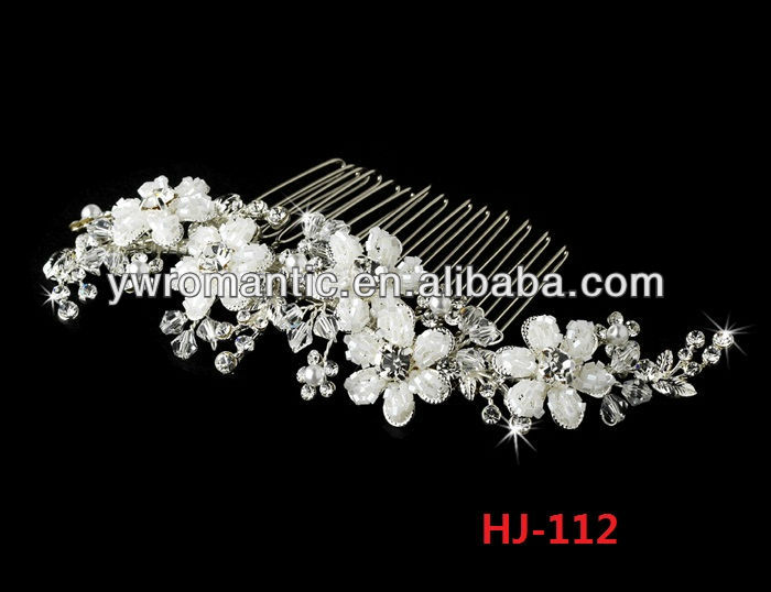 wedding wholesale crystal rhinestone pearl metal bridal hair combs