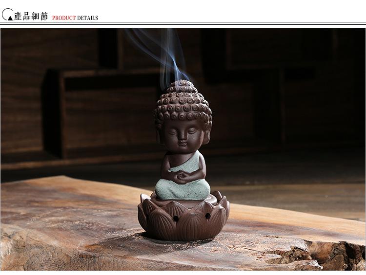 29341919e960 2016 New Ceramic Incense Burner Buddha Holder Handmade ...